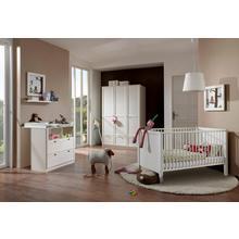 set complet pour chambre de bébé Helsingborg, lot 3, Lit + commode à langer 3 portesArmoire