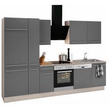 OPTIFIT bloc de cuisine Bern, sans appareils électriques, largeur 300 cm, avec pieds réglables en hauteur, portes et tiroirs à fermeture amortie, poignées métalliques