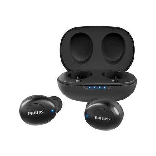 PHILIPS UpBeat TAUT102BK - Véritables écouteurs sans fil avec micro intra-auriculaire Bluetooth Suppresseur de bruit actif noir