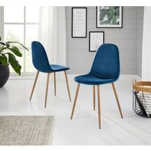 chaise coque Miller, lot de 2, (2 ou 4 pièces), revêtement en velours