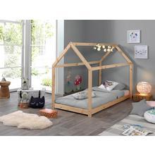 VIPACK lit en forme de maison Cabane, avec cadre à lattes