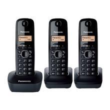 PANASONIC KX-TG1613 - Téléphone sans fil avec ID d'appelant DECT noir + 2 combinés supplémentaires