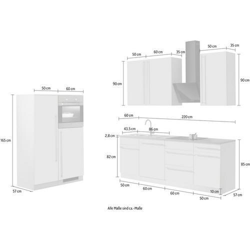 WIHO KUCHEN bloc de cuisine Chicago, sans appareil électrique, largeur 330 cm