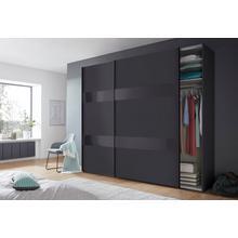 WIMEX kast met zwevende deuren Altona, glaselementen en extra losse planken