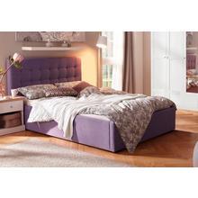 HOME AFFAIRE lit rembourré Hamar, avec un beau capitonnage dans la tête de lit, en 3 tailles et 2 couleurs