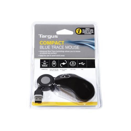 TARGUS - Souris droitiers et gauchers optique 3 boutons filaire USB noir