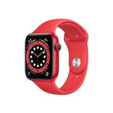 APPLE Watch Series 6 (GPS) - (PRODUCT) RED 44 mm aluminium rouge montre intelligente avec bande sport fluoroélastomère taille de 140-210 S/M/L 32 Go Wi-Fi, Bluetooth 36.5 g