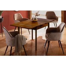 HOME AFFAIRE table de salle à manger Tirza, en pin massif, avec fonction coulissante deux largeurs