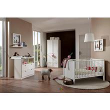 set complet pour chambre de bébé Helsingborg, lot 3, Lit + commode à langer 2 portesArmoire