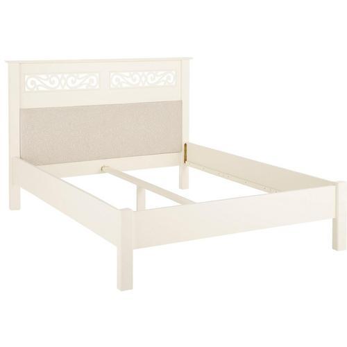 HOME AFFAIRE lit Arabeske, avec tête de rembourrée et fraisage décoratif sur la lit, disponible en 3 tailles