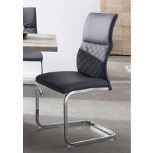 HOMEXPERTS stoel zonder achterpoten Demi, 2-delig, Met doorgestikte rugleuning (set van 2)