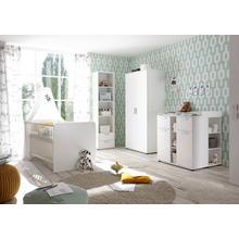 set complet pour chambre de bébé Bibo, lot 3, Lit + commode à langer 2 portes Armoire