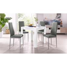 ensemble de salle à manger Lynn + Brooke, lot 5, avec table en blanc, largeur 80 cm