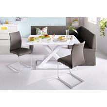 HOMEXPERTS table de salle à manger, largeur 120, 140 ou 160 cm