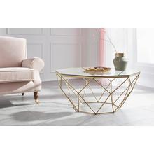 GUIDO MARIA KRETSCHMER HOME & LIVING table basse Caen, en verre et métal formes géométriques,largeur 95 cm
