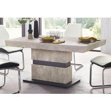 HOMEXPERTS table de salle à manger pied colonne Marley, largeur 140 ou 160 cm