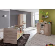 complete set voor babykamer Bergamo, 3-delig, bed + commode 2-deurskast