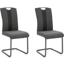HELA stoel zonder achterpoten Amber, 2-delig, (Set van 2 of 4), overtrokken met weefstof