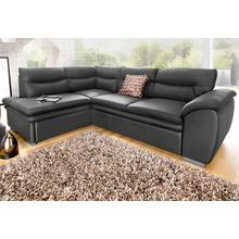COTTA canapé d'angle, avec fonction lit et espace de rangement en option
