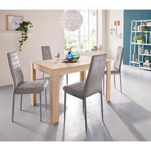ensemble voor eettafel 0, 5-delig, Met »Lynn«, breedte 120 cm en 4 x stoel »Kate«