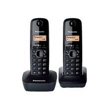 PANASONIC KX-TG1612 - Téléphone sans fil avec ID d'appelant DECT noir + combiné supplémentaire