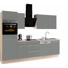 OPTIFIT bloc de cuisine Bern, sans appareil électrique, largeur 270 cm, avec pieds réglables en hauteur, portes et tiroirs à fermeture amortie, poignées métalliques