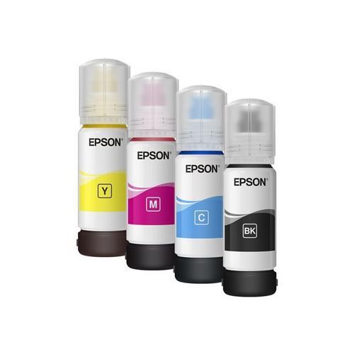 EPSON EcoTank ET-2711 - Imprimante multifonctions couleur jet d'encre refillable A4/Legal (support) jusqu'à 33 ppm (impression) 100 feuilles USB, Wi-Fi noir