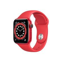 APPLE Watch Series 6 (GPS) - (PRODUCT) RED 40 mm rood aluminium smart met sportband fluoroelastomeer bandgrootte 130-200 S/M/L 32 GB Wi-Fi, Bluetooth 30.5 g