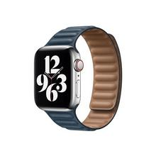 APPLE 40mm Leather Link - Horlogebandje voor smart watch maat M/L Baltisch blauw (38 mm, 40 mm)