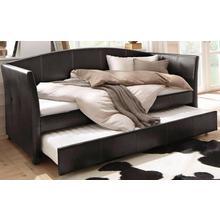 HOME AFFAIRE lit à 3 parois Maja, avec des coutures décoratives et une seconde surface de couchage dépliable