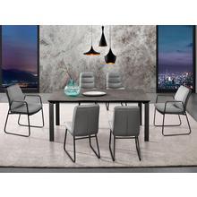 PLACES OF STYLE table de salle à manger Utah, Piétement en métal, plateau béton