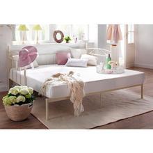 HOME AFFAIRE bed met 3 wanden Birgit, een praktisch uittrekbaar ligvlak en mooi metalen frame