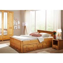 HOME AFFAIRE set pour chambre à coucher Hugo, lot de 3, lit 140 cm, garde-robe 2 portes et 1 table chevet