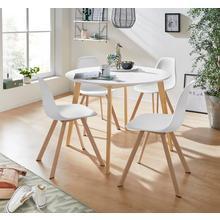 INOSIGN ensemble de salle à manger Veneto, lot 5, en bois pin massif, composé d'unetable Cody 105 cm et d'un 4 chaises Veneto