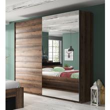 armoire à portes flottantes Beta, avec miroir