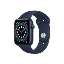 APPLE Watch Series 6 (GPS) - 44 mm aluminium bleu montre intelligente avec bande sport fluoroélastomère marine profond taille de 140-210 S/M/L 32 Go Wi-Fi, Bluetooth 36.5 g