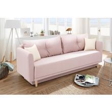 HOME AFFAIRE canapé lit Scandic, y compris 2 coussins décoratifs et une boîte de lit, coutures boutons dans les dos
