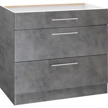 WIHO KUCHEN élément bas Cali, 90 cm de large, avec 2 grands tiroirs sans plan travail