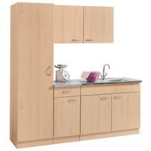 WIHO KUCHEN bloc de cuisine Kiel, Largeur 190 cm avec un plan travail 28 mm d'épaisseur, profondeur 50