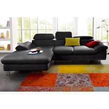 COTTA canapé d'angle, avec réglage de l'appuie-tête ou du dossier, en option fonction lit et espace rangement