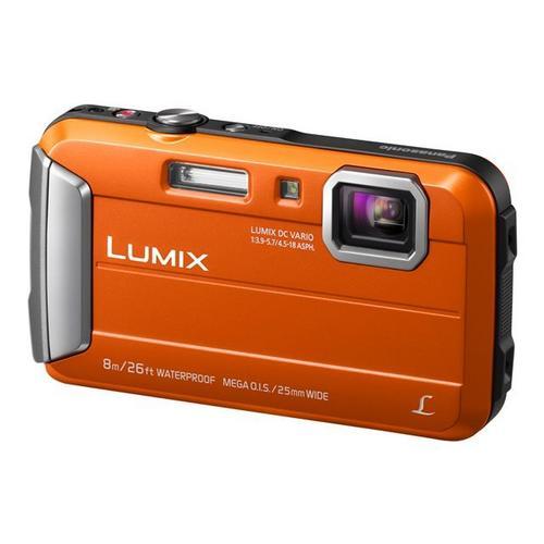 PANASONIC Lumix DMC-FT30 - Appareil photo numérique compact 16.1 MP 720 p 4x zoom optique sous-marin jusqu'à 8 m orange