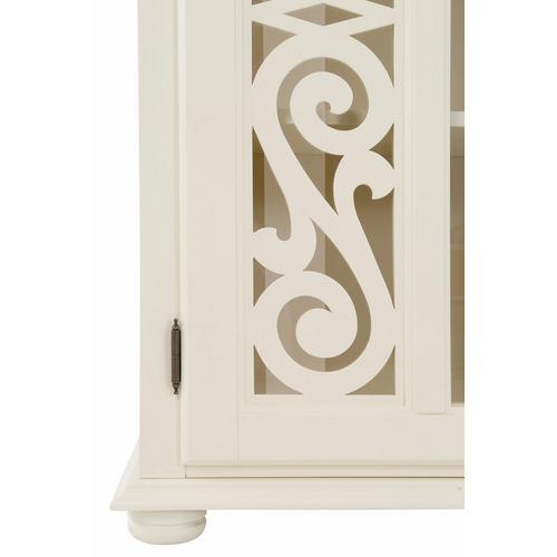 HOME AFFAIRE vitrine Arabeske, avec de belles moulures décoratives sur la façade porte, charnière porte peut être choisie différemment, hauteur 190 cm