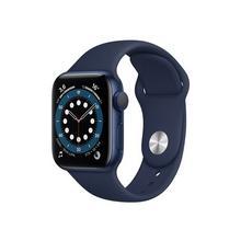 APPLE Watch Series 6 (GPS) - 40 mm aluminium bleu montre intelligente avec bande sport fluoroélastomère marine profond taille du bracelet : S/M/L 32 Go Wi-Fi, Bluetooth 30.5 g
