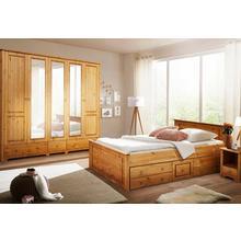 HOME AFFAIRE slaapkamer-set Hugo, 4-delig, Bed 180 cm, 5-deurs kledingkast en 2 nachtkastjes