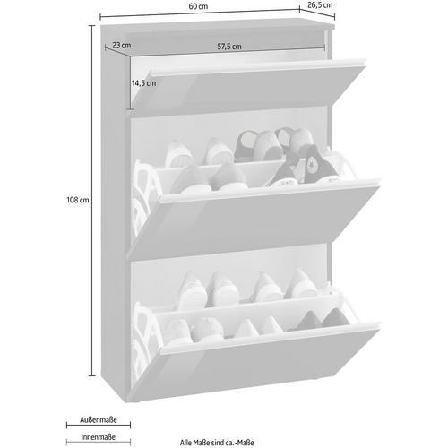 TECNOS armoire à chaussures Magic, Largeur 60 cm