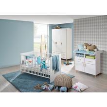 RAUCH set complet pour chambre de bébé Potsdam, lot 3, Lit + commode à langer 3 portesArmoire