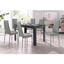 ensemble de salle à manger, lot 5, 4 chaises avec table couleur ardoise, largeur 120 cm
