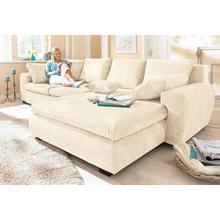 HOME AFFAIRE canapé d'angle Cara Mia, au choix avec fonction lit, 2 qualités de revêtement