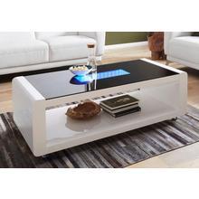 HOMEXPERTS table basse, avec éclairage 3D-LED, sur roues