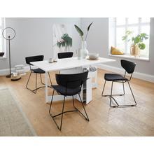 WOODMAN table de salle à manger Jasper, avec un plateau rectangulaire et une fonction extension, largeur 90 cm